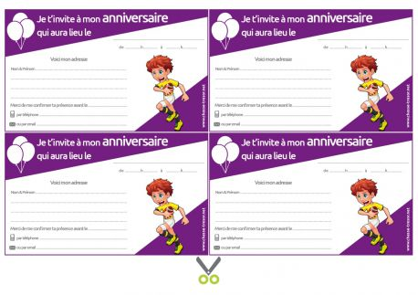 Invitations à Imprimer Pour Anniversaire Rugby Chasseotresor