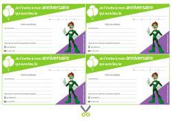 Invitations à imprimer pour anniversaire - Super-héros