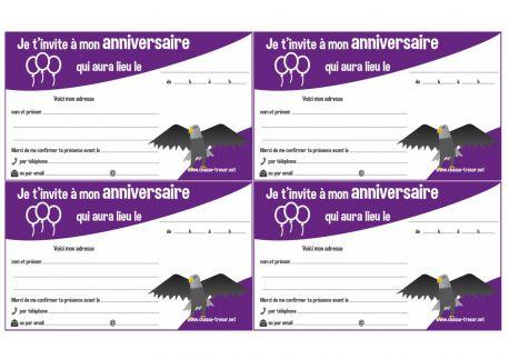 Invitations à imprimer pour anniversaire - thème de noël