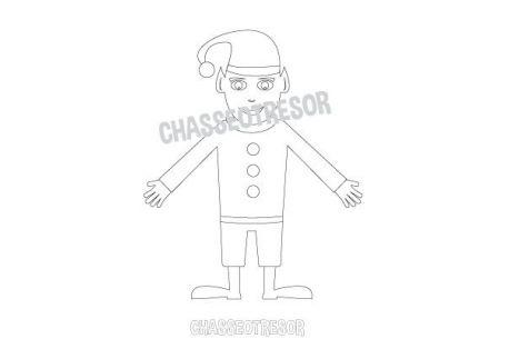 Coloriage pour enfant bonhomme de neige