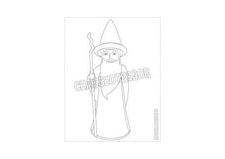 Coloriage pour enfant du magicien Lineus