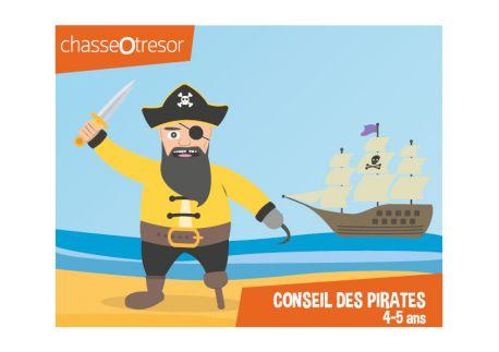 Chasse au trésor des Pirates - 4/5 ans