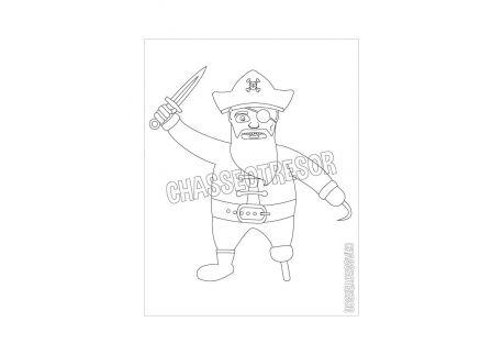 Coloriage pour enfant de pirate