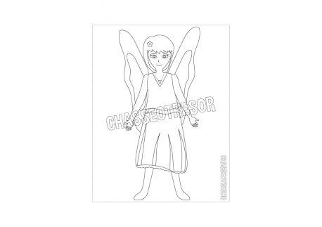 Coloriage pour enfant de la fée Alae