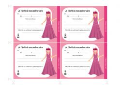 Invitations à imprimer pour anniversaire Princesses