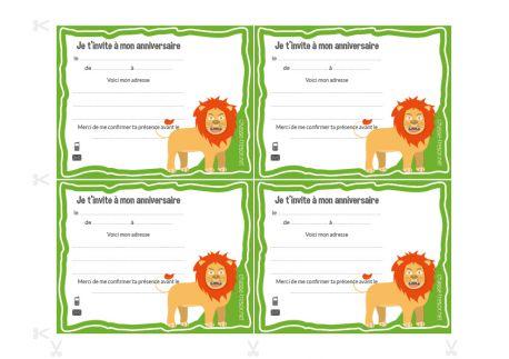Invitations à imprimer pour anniversaire Jungle